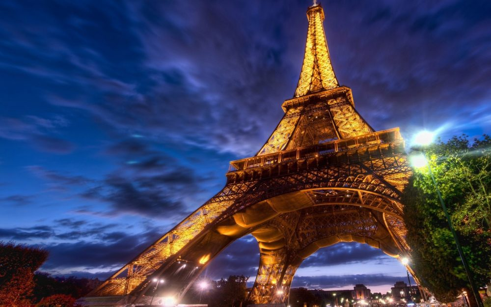 Paris Eiffel Tower beautiful night wallpaper