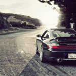 Sports car HD wallpaper on the road