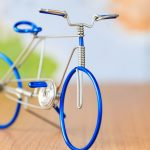 Creative handmade wire bike wallpaper