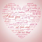 I love you desktop wallpapers in various languages