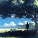 Anime character landscape desktop background picture