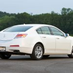 trees, white, side view, cars, acura, style, 2008, tl