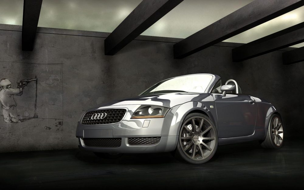 Audi open-top sports car wallpaper