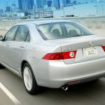 tsx, 2003, city, metallic silver, speed, acura, style, cars, street, rear view