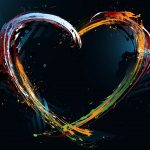 Creative love personality desktop background picture