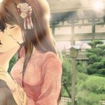 Anime kissing wallpaper
