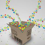 candy, colorful, box