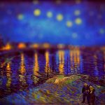 Tilt shift, van gogh, picture