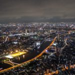 buildings, sumida, night city, japan