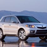 silver metallic, cars, mountains, rdx, side view, style, jeep, acura