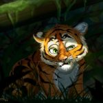 art, emotions, tiger cub wallpaper