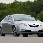 2008, front view, style, acura, cars, trees, tl, silver metallic