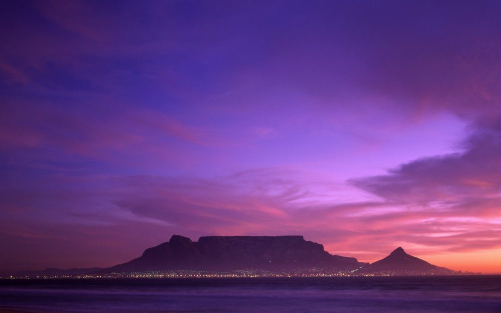 Table Mountain, South Africa hd wallpaper