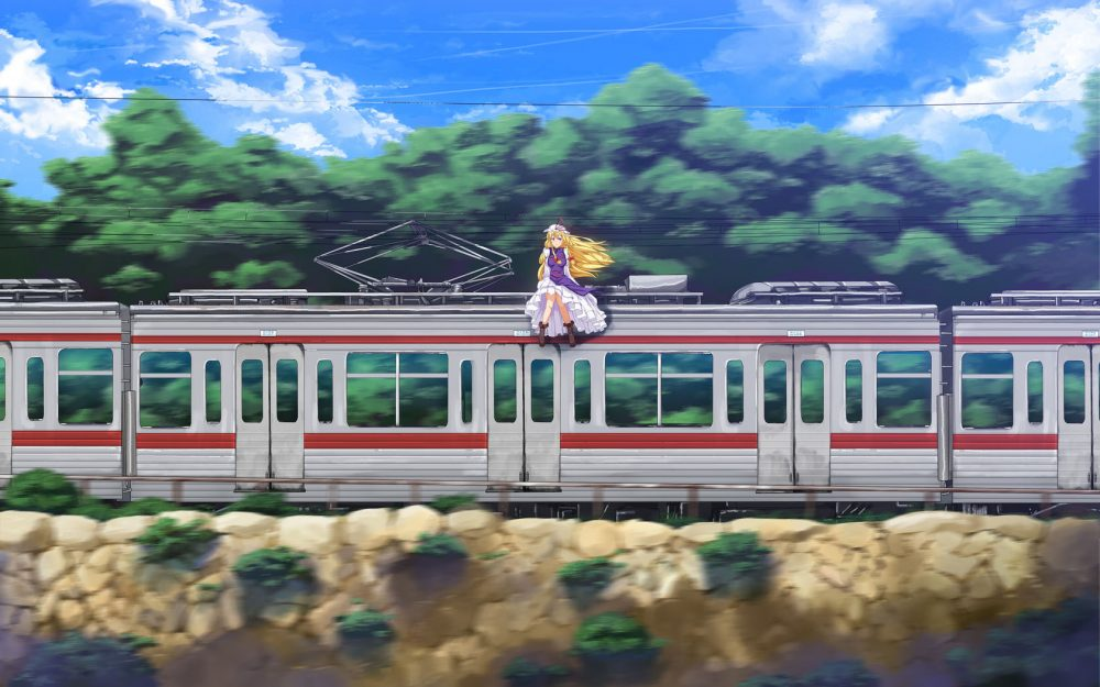 Anime train desktop background picture