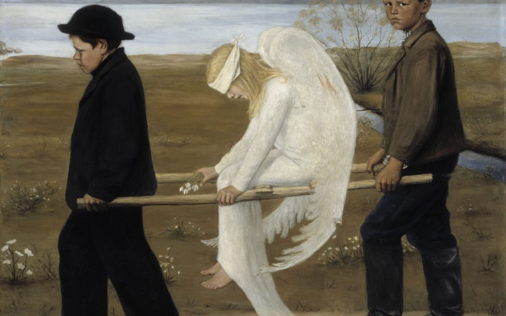 Wings, Painting, painting, wounded angel