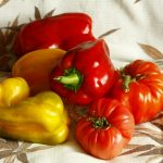 Food, summer, yellow, food, red, vegetables, tomatoes