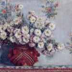 flowers, Claude Monet, still life, vase with chrysanthemums, picture