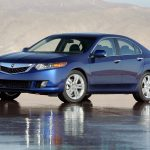 tsx, reflection, side view, wet asphalt, blue, cars, acura, style, 2009, v6