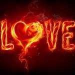 Good-looking love red flame wallpaper HD desktop