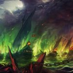The sea is on fire wallpaper
