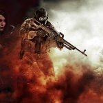 smoke, Pecheneg, machine gun, man, girl, ammunition, half naked, cosplay, magic, Fink, explosions, background, voltage