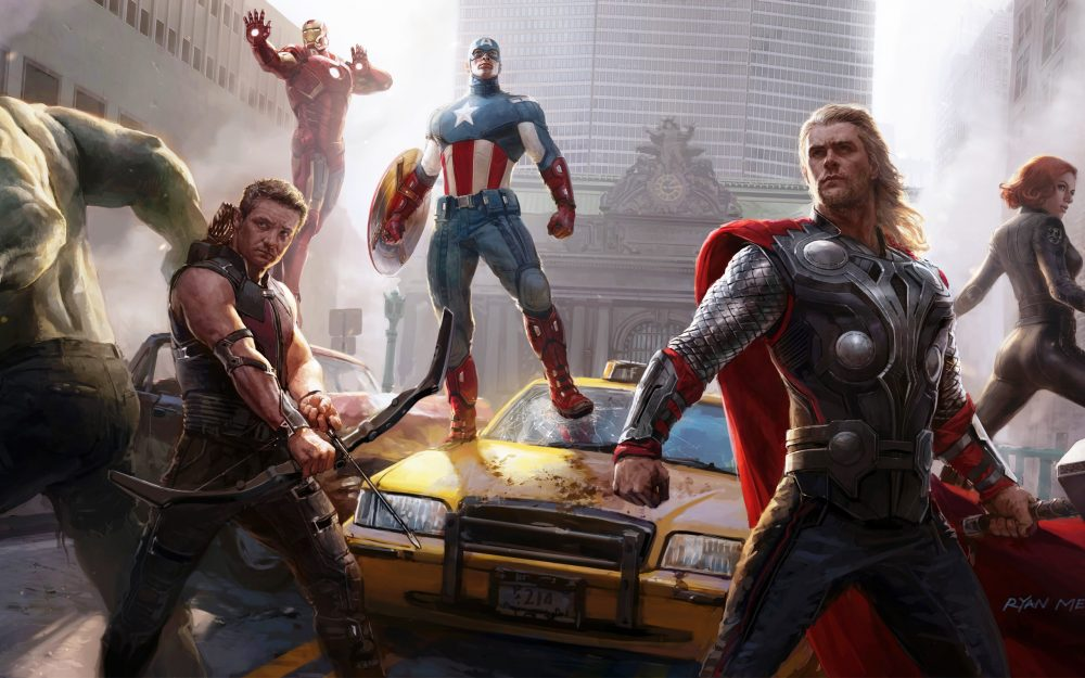 The Avengers – the final scene hd wallpaper