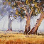 FIGURE, ART, TREES, ARTSAUS, AUSTRALIAN GUM TREE, ANIMALS