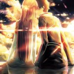 Anime couple romantic kissing beautiful desktop wallpaper