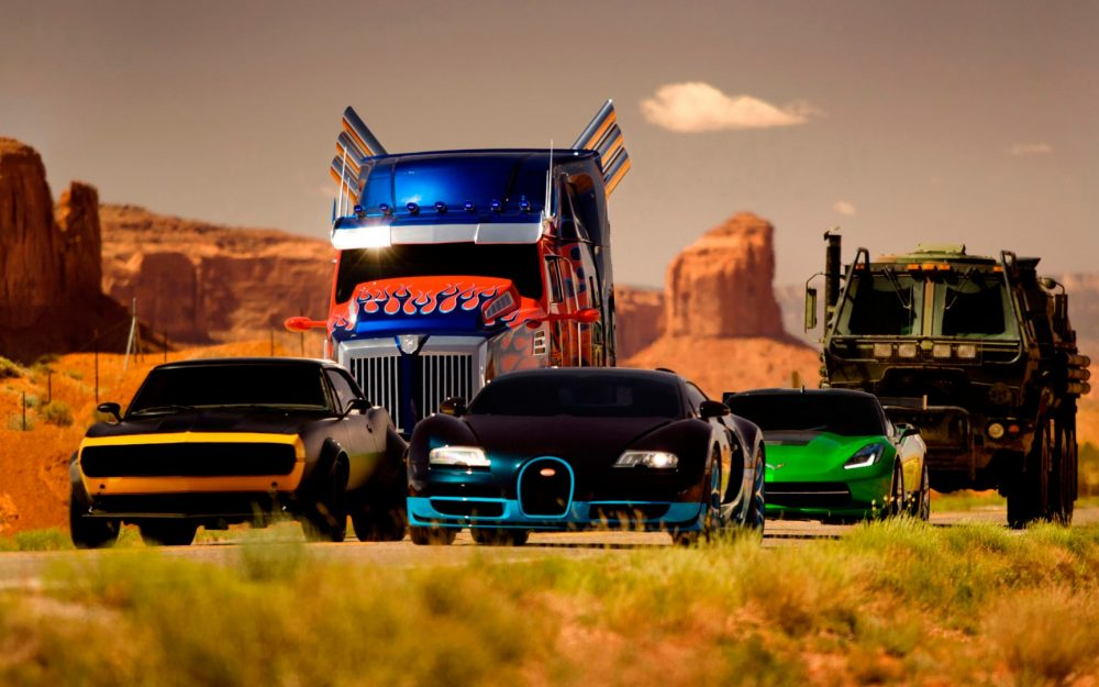 Transformers 4, car, semi-trailer, Chevrolet, Corvette, armored car, Lamborghini, Bugatti, wallpaper