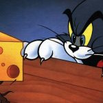 Classic cartoon cat and mouse desktop wallpaper