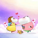 Tanabata couple meeting cute wallpaper