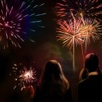 Fireworks Watching fireworks wallpaper with you