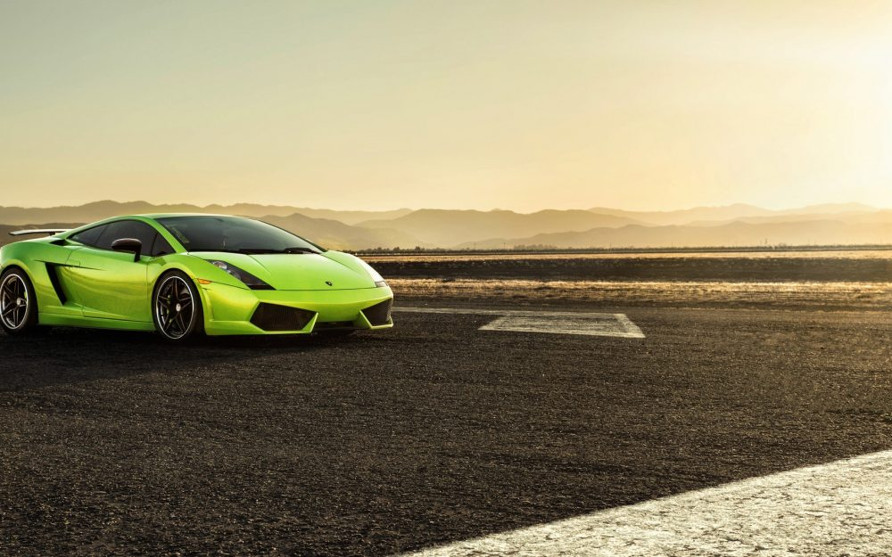Green Lamborghini, LP560-4, HD desktop wallpaper