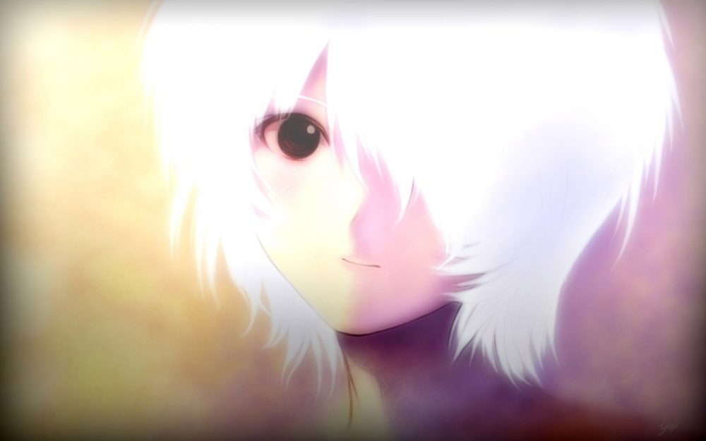 White hair anime girls desktop wallpaper