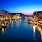 Venice, Italy, water city night scenes desktop wallpaper
