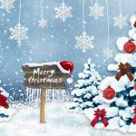 Christmas tree, christmas, forest, trees, decoration, snowflakes, merry christmas wallpaper