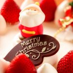 Christmas, santa claus, strawberry, cake, desktop wallpaper
