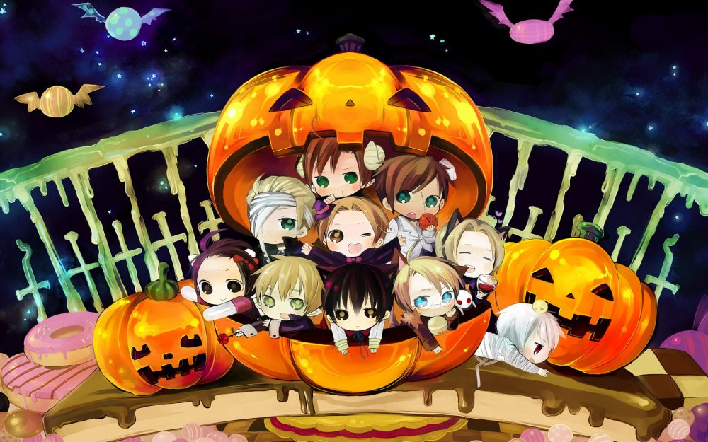 Halloween cute characters wallpaper