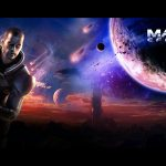 mass effect 2, planets, shepard, gun, space hd wallpaper