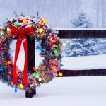 Winter, holiday, christmas, fence, christmas dress, desktop wallpaper