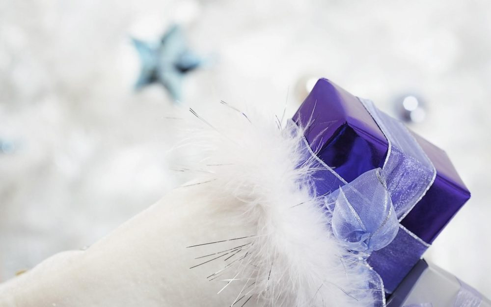 feathers, gift, ribbon