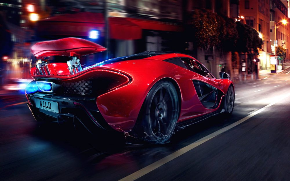 Red McLaren Super Run HD Wallpaper