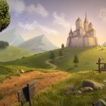 Fantasy castle landscape wallpaper