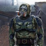 gas mask, jumpsuit, rifle, SVDU, stalker, freedom