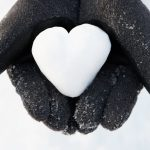 hand, heart, snow, symbol desktop background