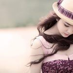 Long hair hooded little fresh beauty desktop wallpaper