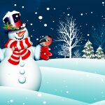 Scarf, trees, scarf, new year, merry christmas, snowman, new year