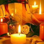 Fire, bow, balls, holiday. holidays, new year, new year, candle
