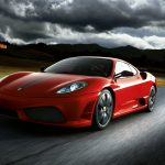 Red atmospheric Ferrari HD wallpaper
