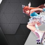 Qq fly wheel skates cute game girl wallpaper
